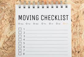 A Quick and Easy Moving Checklist You Should Remember
