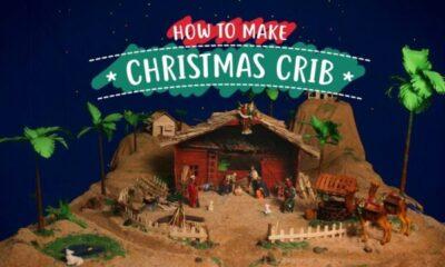 CHRISTMAS- HOW TO MAKE AND DECORATE CHRISTMAS CRIB