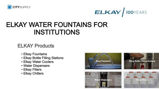 CLEANER, HEALTHIER ELKAY WATER FOUNTAINS FOR INSTITUTION