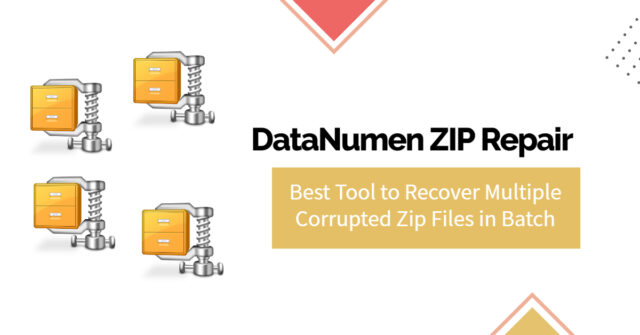 Recover Multiple Corrupted ZIP Files