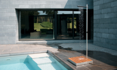 Invigorating Outdoor Shower Ideas for Swimming Pools Areas
