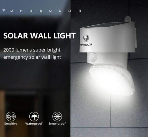 Install Solar Wall Outdoor LED Lights