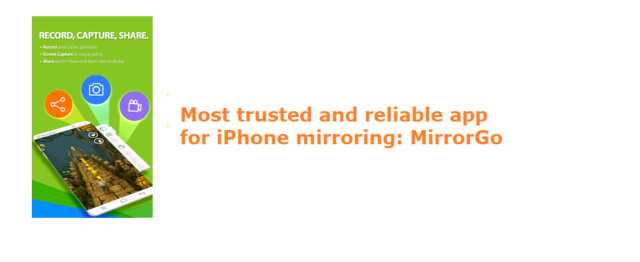 reliable app for iPhone mirroring: MirrorGo