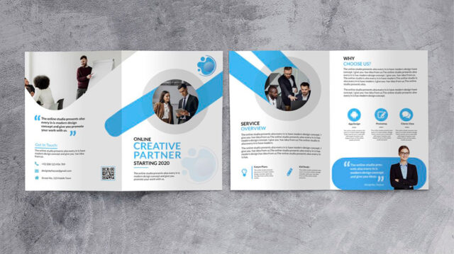folded leaflet