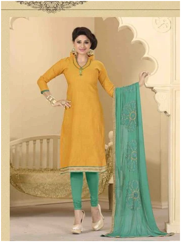 Hand Painted Salwar Suit Set