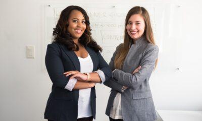 Two women in blazers